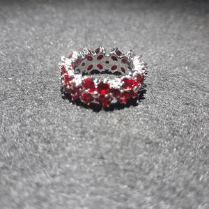 Genuine Ruby Eternity Band Ring r10
